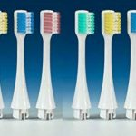 2 x packs de 4 brossettes de rechange pour Brosse à dents-gencives Broxo OraBrush, Broxodent, mécanique & sonique (Brins MEDIUM) livré avec le protège-carte Broxo® dédié à la protection des données RFID de la marque BROXO image 1 produit