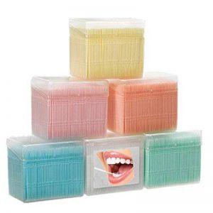 Adiasen 1100pcs Plastique Oral dents Brosse de nettoyage fête cure-dents Hôtel Ménage bleu clair de la marque ADIASEN image 0 produit