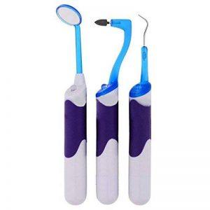 Aozzy Multifunction Sonic Kit Hygiene dentaire 3 en 1 Avec la lumière LED+Miroir d'inspection dentaire+ Détartreur + Gomme dentaire anti-taches de la marque Aozzy image 0 produit
