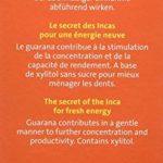BADERs Guarana Fitgum de la pharmacie. Chewing-gum énergétique aux extraits de guarana. Le secret des Incas pour faire le plein d'énergie. Pack avantage 3 x 24 chewing-gums dragées (132 g). de la marque Ralf BADERs Gesundheit image 1 produit