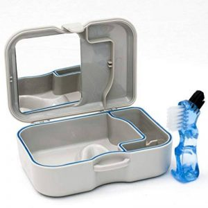 Bain pour Dentiers avec miroir et brosse– Etui de rangement pour trempage des dentiers, prothèses dentaires, appareils de rétention et autres appareils dentaires de la marque Careshine image 0 produit