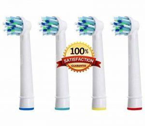 Beauty Nymph Générique de haute qualité têtes de brosse à dents électrique de rechange compatible avec Oral B eb-50 a CrossAction Power Brosse à dents antibactérienne de la marque Beauty Nymph image 0 produit