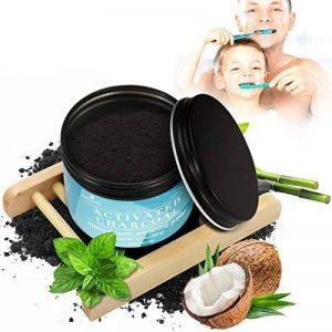 Blanchiment dentaire,Blanchiment des dents,Dents Blanches,iSuri pour blanchir les dents au Charbon Active Coconut Améliorer la Santé Bucco-dentair(60g) de la marque iSuri image 0 produit