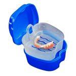 Boîte à Dentier avec Panier - boîte de rangement de fausses dents de Hatisan-Pro avec conteneur de filet suspendu, boîte de protège-dents de qualité supérieure avec brosse de nettoyage (3 Pièces) de la marque Boîte à Dentier avec Panier - boîte de rangeme image 4 produit