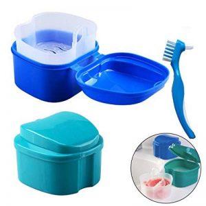Boîte à Dentier avec Panier - boîte de rangement de fausses dents de Hatisan-Pro avec conteneur de filet suspendu, boîte de protège-dents de qualité supérieure avec brosse de nettoyage (3 Pièces) de la marque Boîte à Dentier avec Panier - boîte de rangeme image 0 produit