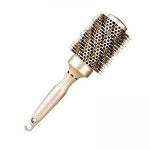 Brosse ronde de cheveux pour le séchage de coup, redressage chaud professionnel et Brosse de coiffage ventilée avec poils de sanglier pour les cheveux fins, bouclés et épais - Volume et éclat parfaits, or 43 mm (43mm) de la marque Splend image 0 produit