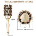 Brosse ronde de cheveux pour le séchage de coup, redressage chaud professionnel et Brosse de coiffage ventilée avec poils de sanglier pour les cheveux fins, bouclés et épais - Volume et éclat parfaits, or 43 mm (43mm) de la marque Splend image 4 produit