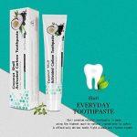 Dentifrice au charbon actif, Blanchiment des dents, Blanchiment des dents naturelles, Dents blanches et nettoyage des dents, Dentifrice blanchissant, Pâte dentifrice iSuri Minty Black Fluorure de la marque iSuri image 4 produit