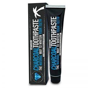 Dentifrice au charbon - Sans fluor - Pour des dents blanches - Arôme mentholé - Soin naturel des dents - Dentifrice blanchissant de la marque image 0 produit