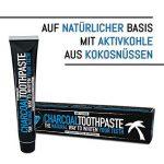 Dentifrice au charbon - Sans fluor - Pour des dents blanches - Arôme mentholé - Soin naturel des dents - Dentifrice blanchissant de la marque image 3 produit
