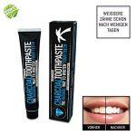 Dentifrice au charbon - Sans fluor - Pour des dents blanches - Arôme mentholé - Soin naturel des dents - Dentifrice blanchissant de la marque SNOWW WHITE Premium Teeth Whitening image 4 produit