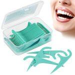EFANTUR Fil Dentaire 300 PCS Porte-fil Dentaire, Lot de 5 dental floss la poignée HIPS confortable de qualité alimentaire, maintenant Parfum de Menthe de la marque Efantur image 3 produit