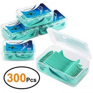 EFANTUR Fil Dentaire 300 PCS Porte-fil Dentaire, Lot de 5 dental floss la poignée HIPS confortable de qualité alimentaire, maintenant Parfum de Menthe de la marque Efantur image 0 produit