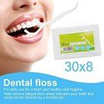 Fil Dentaire 240PCS Porte-fil Dentaire Lot de 8 dental floss, la poignée HIPS confortable de qualité alimentaire de la marque Efantur image 1 produit