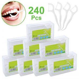 Fil Dentaire 240PCS Porte-fil Dentaire Lot de 8 dental floss, la poignée HIPS confortable de qualité alimentaire de la marque Efantur image 0 produit