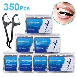 Fil Dentaire 350 PCS Porte-fil Dentaire Lot de 7 dental floss, la poignée HIPS confortable de qualité alimentaire de la marque Efantur image 0 produit