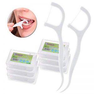Fil Dentaire - Meersee 180 Pcs Dental Floss, Fil Dentaire Sticks Jetable Oral Nettoyage Floss Fil Dentaire Flossers, Lot de 6 de la marque Meersee image 0 produit