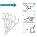 Fil Dentaire - Meersee 180 Pcs Dental Floss, Fil Dentaire Sticks Jetable Oral Nettoyage Floss Fil Dentaire Flossers, Lot de 6 de la marque Meersee image 3 produit