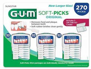 GUM Soft-picks Original, 3cases de voyage pratique, 270doux Picks de la marque Gum image 0 produit