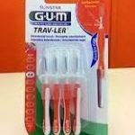 Gum Travler 1412 Lot de 4brossettes interdentaires 0,9mm de la marque Sunstar GUM image 1 produit
