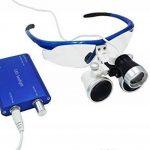 Hot Dental – Loupe binoculaire avec lampe frontale LED, grossissement 3,5x, distance de travail chirurgical 420 mm, avec boîte en aluminium de la marque hot dental image 2 produit