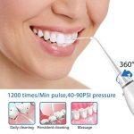 Hydropulseur Jet Dentaire, Dentaire Oral Electrique Portable 3-Mode de conception de réservoir d'eau de grande capacité Nettoyant dentaire portatif pour le voyage et l'utilisation à la maison (BLANC) de la marque Excuty image 4 produit