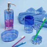 InterDesign Eva porte brosse a dent, grand support brosse a dent en plastique, bleu océan de la marque InterDesign image 2 produit