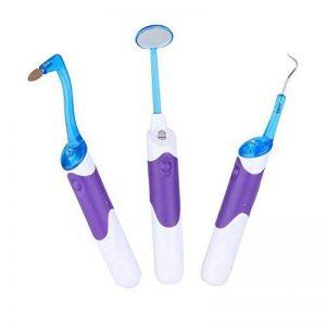 Japace® Lot de 3 Professionnel Hygiene Dentaires Outils de nettoyage dentaire avec LED+Miroir d'inspection dentaire+ Détartreur + Gomme dentaire anti-taches de la marque Japace image 0 produit