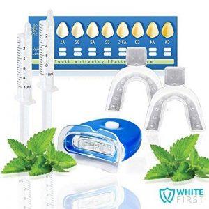 Kit blanchiment dentaire White First ® - Kit blanchissement dentaire avec 20ml de gel blanchiment. Les produits dentaire dans nos kits blanchiment des dents sont idéal pour les personnes souffrant de dents sensibles. de la marque White First image 0 produit