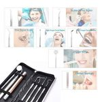 Kit Hygiène Dentaire 7pcs LONGKO Nettoyage Soins Dentaires -Grattoir à Tartes en Acier Inoxydable,Détartreur,Lampe de Proche Miroir Dentaire-kit de Nettoyage Dentaire pour Dents à Domicile de la marque LONGKO image 4 produit