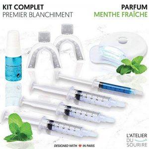 L'atelier du sourire - Kit blanchiment dentaire professionnel - Kit complet pour réaliser 10 blanchiments dentaire à la maison. Parfum Menthe Fraîche de la marque L'atelier du sourire image 0 produit