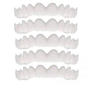 Longra 5PCS dents cosmétique Smile Confort Fit Cosmétique Soins Dentaires Faux Dents Les dents Dents de prothèse dentaire dents cosmétiques Cosmétique Prothèse Les dents(Blanc) de la marque Longra makeups image 0 produit