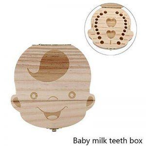 MOMEY Bébé dents Save Box organisateur dents souvenir boîte en bois caduques dent collection mémoire boîte souvenir pour les enfants de la marque MOMEY image 0 produit