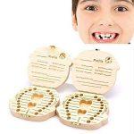 MOMEY Bébé dents Save Box organisateur dents souvenir boîte en bois caduques dent collection mémoire boîte souvenir pour les enfants de la marque MOMEY image 4 produit