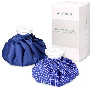 Navaris Set 2x poche de glace - Sac de chaleur et de froid réutilisable pour soulagement de douleur - Vessie de glace 2 tailles - bleu et blanc de la marque Navaris image 0 produit