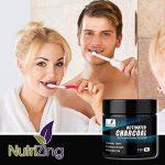 NutriZing Poudre de blanchiment des dents au charbon de coques de noix de coco – Supprime les tâches, nettoie et polit les dents, détoxifie la bouche, améliore l'hygiène buccale - Goût menthe de la marque NutriZing image 3 produit