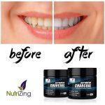 NutriZing Poudre de blanchiment des dents au charbon de coques de noix de coco – Supprime les tâches, nettoie et polit les dents, détoxifie la bouche, améliore l'hygiène buccale - Goût menthe de la marque NutriZing image 4 produit
