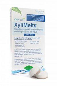 OraCoat Xylimelts 40 pastilles adhérentes contre les caries et la sècheresse buccale – Au xylitol et au carbonate de calcium – [menthe douce] – Soin dentaire à effet prolongé – Discret – Peut s'utiliser pendant le sommeil - VEGAN de la marque OraCoat image 0 produit