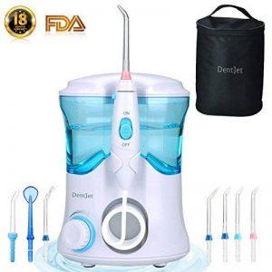 Oral Irrigateur Buccal Jet Dentaire Hydropulseur, [DentJet] Jet Buccal Professionnel étanche pour les soins dentaires et le nettoyage des dents pour une utilisation familiale à la maison avec 7 buses de la marque DentJet image 0 produit