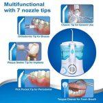 Oral Irrigateur Buccal Jet Dentaire Hydropulseur, [DentJet] Jet Buccal Professionnel étanche pour les soins dentaires et le nettoyage des dents pour une utilisation familiale à la maison avec 7 buses de la marque DentJet image 2 produit