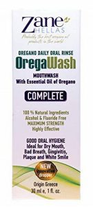 OREGAWASH Oregano Daily Oral Rinse [Rinçage Oral Quotidien à l'origan]. 100% naturel. 1 Fl. Oz. - 30 ml. d'Alcool, Sans Fluor. Combat les bactéries naturellement. Idéal pour la gingivite, la plaque, la bouche sèche, la mauvaise haleine. Bonne santé bucco- image 0 produit