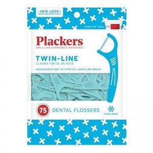 PLACKERS - 8106199 - Porte-Fil Dentaire Double-Fil Sachet de 75 Unités de la marque Plackers image 0 produit