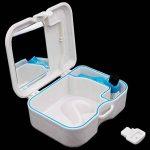 Plastique faux dentiers boîte de rangement porte-étui avec miroir et brosse pour appareils dentaires et protège-bouche de la marque Vococal image 3 produit