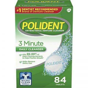Polident - 3 Minute - Tablettes Nettoyantes Prothèse Dentaire - 84 Unités de la marque Polident image 0 produit