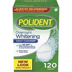 Polident - Antibactérien - Tablettes Nettoyantes Prothèse Dentaire - 120 Unités de la marque Polident image 0 produit