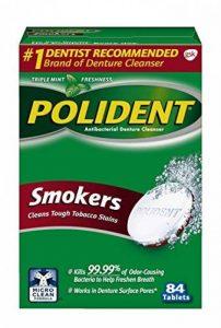 Polident - Fumeurs Dentier Démaquillant, 84 Count de la marque Polident image 0 produit
