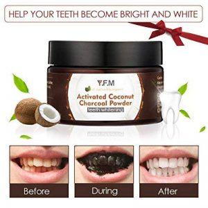 Poudre de blanchiment dentaireY.F.M.Blanchiment Dentaire,Poudre pour blanchir les dents au Charbon Active Coconut,Contre la mauvaise haleine,les taches tenace,Améliorer la Santé Bucco-dentaire 50g de la marque Y.F.M image 0 produit