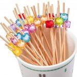 PuTwo Pics à Cocktail Cure-dents en Bambou 12.5 cm Pour Fête Anniversaire Lot de 100 - Couleurs Mixte de la marque PuTwo image 3 produit