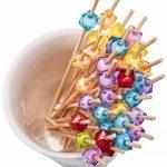 PuTwo Pics à Cocktail Cure-dents en Bambou 12.5 cm Pour Fête Anniversaire Lot de 100 - Couleurs Mixte de la marque PuTwo image 4 produit