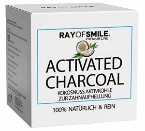 Ray of Smile-CHARBON ACTIF 60g Natural pour Blanchiment des Dents Sans Produits Chimiques & Additifs Synthétiques de la marque RAY OF SMILE image 0 produit